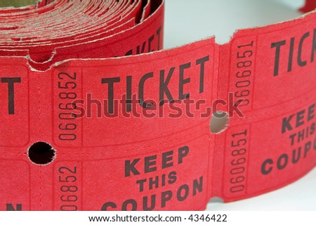 Roll of Raffle Tickets - stock photo