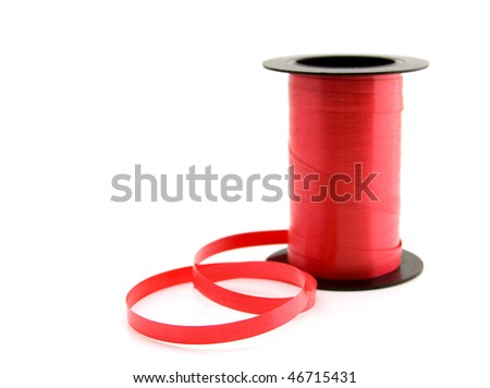 roll red ribbon on white background stock photo 46715431 shutterstock