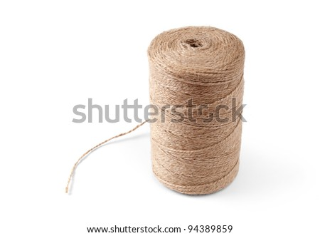 roll of rope isolated on a white background