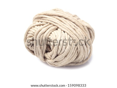 Roll of Rope On White Background