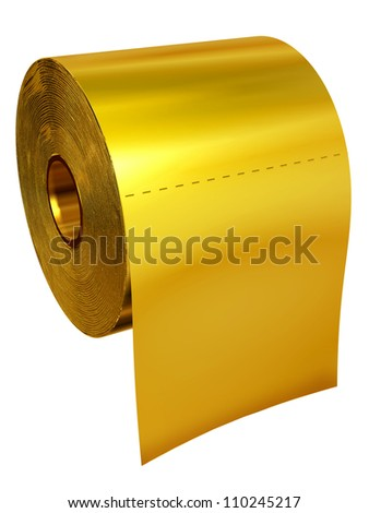 gold toilet. Roll of toilet tissue made gold Gold Toilet Stock Images  Royalty Free Vectors Shutterstock