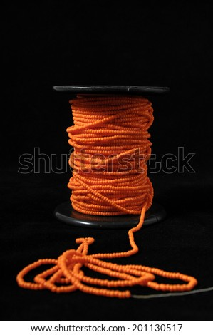 Roll of Twine isolated on a Black Background