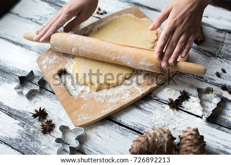 Roll out the dough with a rolling pin