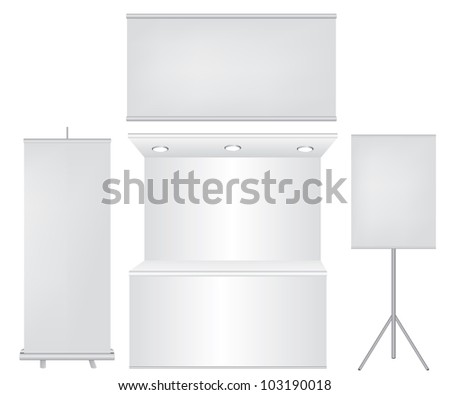 Roll up banner and stand illustration