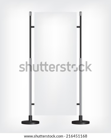 Roll up banner stand - stock photo