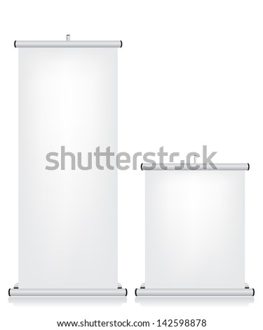 Roll up banner white