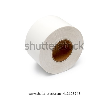 roll white ribbons on a white background