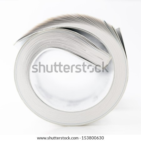 Rolled book - stock photo