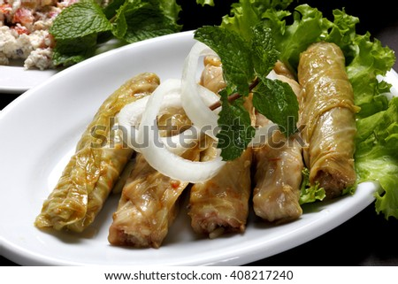 rolled cabbage - stock photo