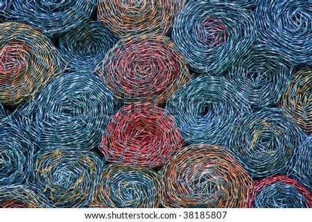 Rolled Chain Link Industrial Texture - stock photo