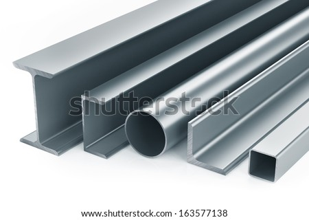 Rolled metal products. Isolated on white background - stock photo