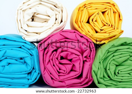 Rolled multicolored sheets