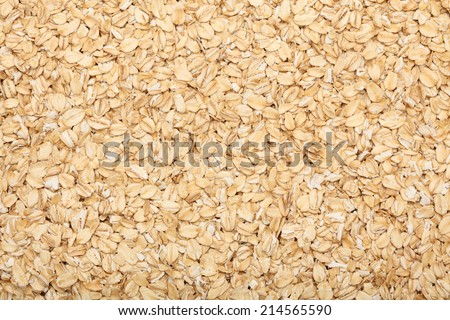Rolled oats background. Closeup. - stock photo
