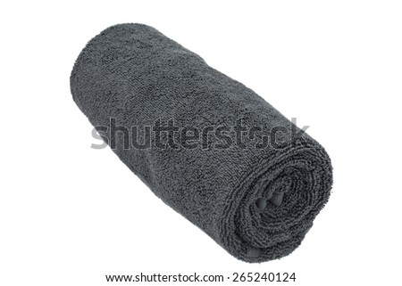 Rolled towel isolated on white background
