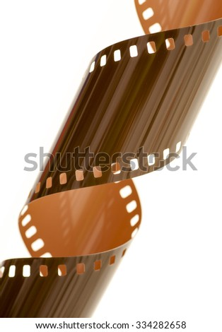 Rolled undeveloped film strip, diagonal. - stock photo