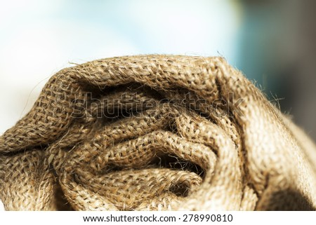 Rolled up Hessian Fabric