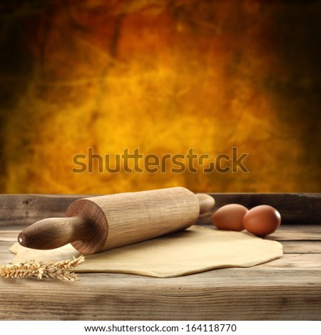 roller and two eggs  - stock photo