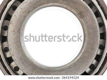 Roller bearing on white