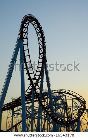 Roller Coaster - stock photo