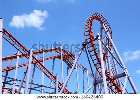 Roller Coaster Track  - stock photo
