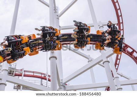 Roller Coaster trail - stock photo