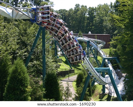 Roller Coaster Twist - stock photo