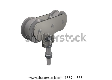Roller guide - stock photo