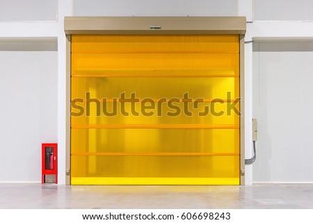 Roller shutter door and concrete floor inside factory building for industrial background. & Roller Shutter Door Stock Images Royalty-Free Images \u0026 Vectors ... Pezcame.Com