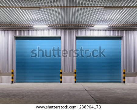 Roller shutter door and concrete floor outside factory building for industrial background. & Roller Shutter Door Stock Images Royalty-Free Images u0026 Vectors ... pezcame.com