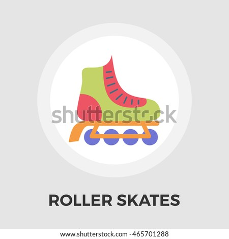 Roller skate icon isolated on the white background.