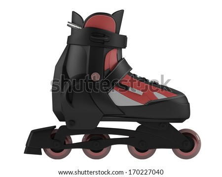 Roller skates isolated - stock photo