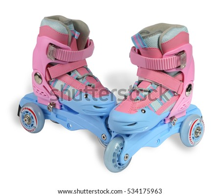 roller skates on the white background
