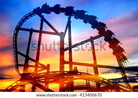 Rollercoaster  - stock photo