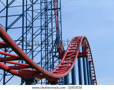 Rollercoaster Hill - stock photo