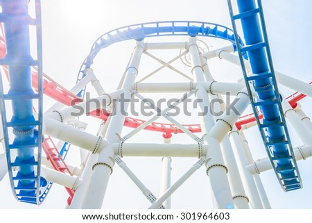 Rollercoaster in the park at singapore
