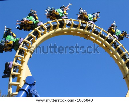 Rollercoaster Loop - stock photo