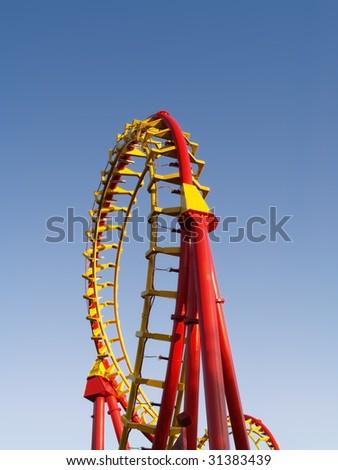 Rollercoaster loop - stock photo
