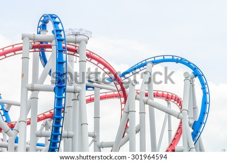 Rollercoaster park in singapore - stock photo