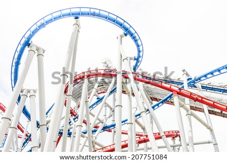 Rollet coaster - stock photo