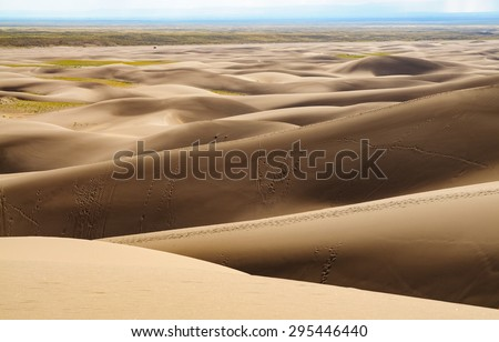 Rolling Dunes at Great Sand Dunes National Park - stock photo