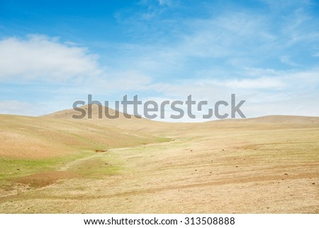 Rolling Hills of Hustai National Park, Mongolia - stock photo