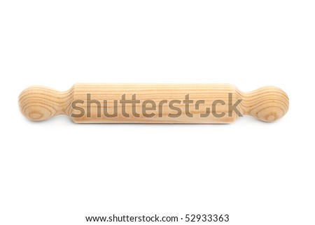 Rolling pin isolated on white background.