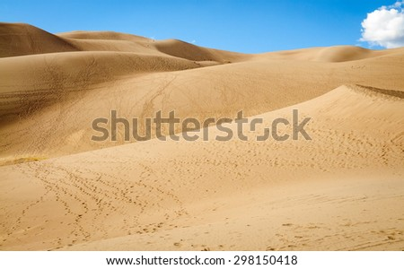 Rolling Sand Dunes at Great Sand Dunes National Park - stock photo