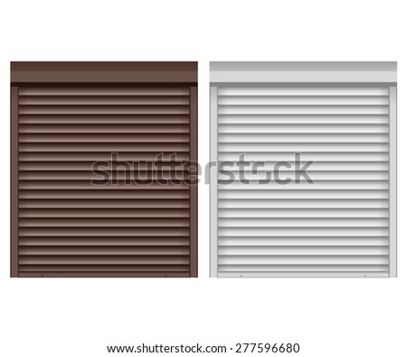 Rolling shutter  isolated on white background. Raster version - stock photo