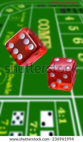 Rolling the Dice - stock photo