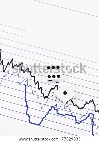 Rolling the Dice of the Stock Market - stock photo
