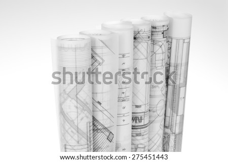 Blueprint Roll Stock Photos Royalty Free Images Vectors