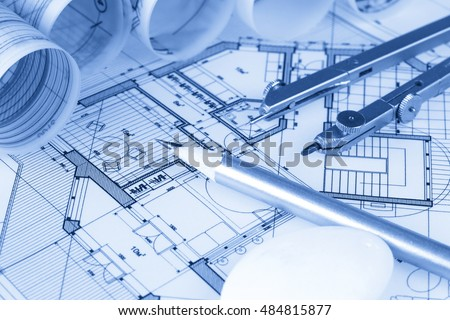 Architecture Blueprints House pencil house stock images, royalty-free images & vectors