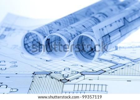 architecture blueprints. Rolls Of Architecture Blueprints \u0026 House Plans R