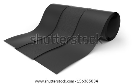 Rolls of rubber - stock photo